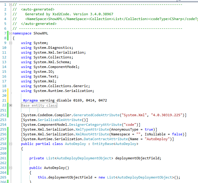 XML to Serializable Class in Visual Studio  | Augmented Developer